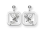 Disney Tinker Bell Square Dangle Post Ear style: WD261SS