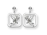 Disney Tinker Bell Square Dangle Post Earr