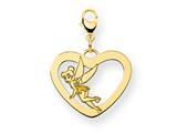 Disney Tinker Bell Heart Lobster Clasp Cha style: WD263GP