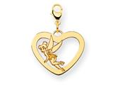 Disney Tinker Bell Heart Lobster Clasp Charm