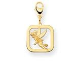 Disney Tinker Bell Square Lobster Clasp Charm