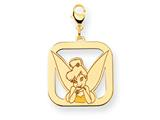 Disney Tinker Bell Square Lobster Clasp Charm style: WD281Y