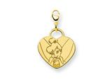 Disney Tinker Bell Heart Lobster Clasp Cha style: WD283GP