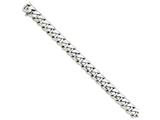22 Inch 14k White Gold 11mm Hand-polished Curb Link Chain style: WLK12722