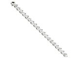 8 Inch 14k White Gold 10.0mm Fancy Link Chain Bracelet style: WLK1898