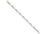 9 Inch 14k White Gold 5.75mm Fancy Link Chain Ankle Bracelet style: WLK3169