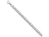 24 Inch 14k White Gold 8.75mm Polished Fancy Link Chain style: WLK40424