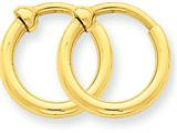 14k Non-pierced Hoop Earrings style: X93