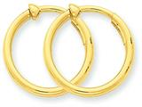 14k Non-pierced Hoop Earrings style: X94