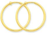 14k Non-pierced Hoop Earrings style: X95