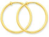 14k Non-pierced Hoop Earrings style: X95