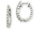 14kw Diamond Hinged Hoop Earring Mountings style: XE1333