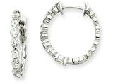 14kw Diamond Hinged Hoop Earring Mountings style: XE1336