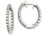 14kw Diamond Hinged Hoop Earring Mountings style: XE1337
