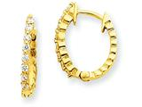 14ky Diamond Hinged Hoop Earring Mountings style: XE1338
