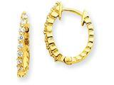 14ky Diamond Hinged Hoop Earring Mountings style: XE1338