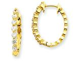 14ky Diamond Hinged Hoop Earring Mountings style: XE1340