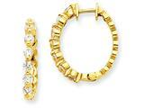 14ky Diamond Hinged Hoop Earring Mountings style: XE1341