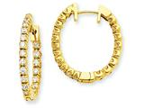 14ky Diamond Hinged Hoop Earring Mountings style: XE1342