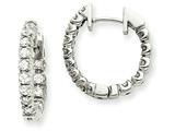 14kw Diamond Hinged Hoop Earring Mountings style: XE1343