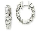 14kw Diamond Hinged Hoop Earring Mountings style: XE1344