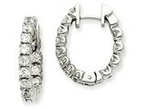 14kw Diamond Hinged Hoop Earring Mountings style: XE1345