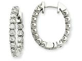 14kw Diamond Hinged Hoop Earring Mountings style: XE1346
