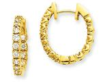 14ky Diamond Hinged Hoop Earring Mountings style: XE1347