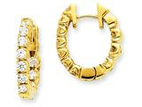 14ky Diamond Hinged Hoop Earring Mountings style: XE1348