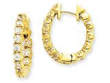 14ky Diamond Hinged Hoop Earring Mountings style: XE1349