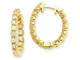 14ky Diamond Hinged Hoop Earring Mountings style: XE1350