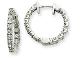 14kw Diamond Hinged Hoop Earring Mountings style: XE1351