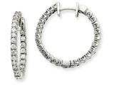 14kw Diamond Hinged Hoop Earring Mountings style: XE1352