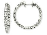 14kw Diamond Hinged Hoop Earring Mountings style: XE1353
