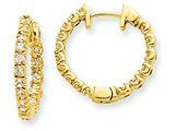 14ky Diamond Hinged Hoop Earring Mountings style: XE1355