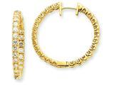 14ky Diamond Hinged Hoop Earring Mountings style: XE1357