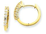 14ky Diamond Hinged Hoop Earring Mountings style: XE1359
