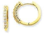 14ky Diamond Hinged Hoop Earring Mountings style: XE1360