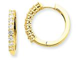 14ky Diamond Hinged Hoop Earring Mountings style: XE1362