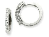 14kw Diamond Hinged Hoop Earring Mountings style: XE1365