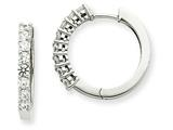 14kw Diamond Hinged Hoop Earring Mountings style: XE1367