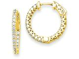 14k Round Hoop W/saftey Clasp Earring Mountings style: XE1999