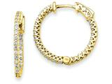 14k Round Hoop W/saftey Clasp Earring Mountings style: XE2000