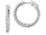 14k White Gold Round Hoop W/saftey Clasp Earring Mountings style: XE2000W
