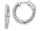 14k White Gold Round Hoop W/saftey Clasp Earring Mountings style: XE2002W