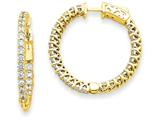 14k Round Hoop W/saftey Clasp Earring Mountings style: XE2003