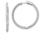 14k White Gold Round Hoop W/saftey Clasp Earring Mountings style: XE2004W