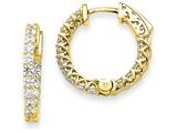 14k Round Hoop W/saftey Clasp Earring Mountings style: XE2005