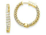 14k Round Hoop W/saftey Clasp Earring Mountings style: XE2006