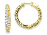 14k Round Hoop W/saftey Clasp Earring Mountings style: XE2009